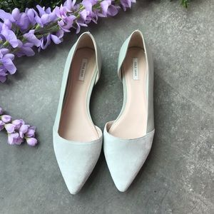 NEW Cole Haan Amelia Mint D'orsay Suede Flats 9
